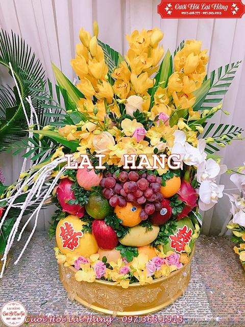 Tráp Ăn Hỏi Hoa Quả Đẹp